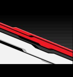 red white cyber futuristic with dark gray shutter vector image