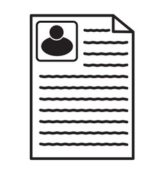 resume icon on white background flat style vector image