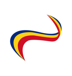 Ribbon in the color of the flag of romania vector