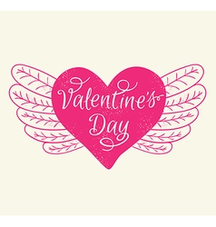Romance Valentines day greeting card vector image
