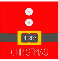 Santa Claus Coat golden belt Merry Christmas vector image