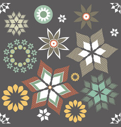 seamless pattern with stylish flowers vector image vector image