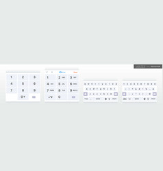 set mobile keyboards alphabet and vector image
