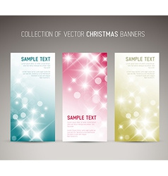 Set of christmas New Year vertical banners vector