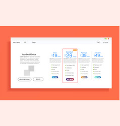 Set of offer tariffs ui banner for web vector