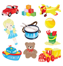 Set of toys for children for vector