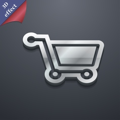 shopping cart icon symbol 3D style Trendy modern vector image