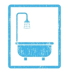 Shower Bath Icon Rubber Stamp vector