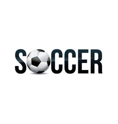 Soccer theme word art vector
