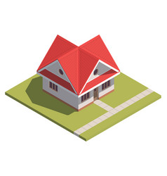 suburban house isometry hyper detailing isometric vector image