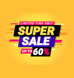 super sale special offers vector image