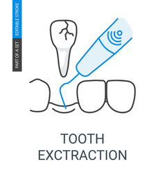 tooth extraction icon vector image