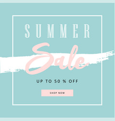 trendy sale banner design vector image