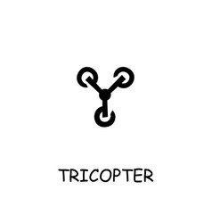 Tricopter flat icon vector