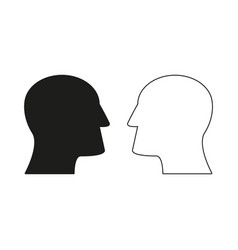 Two heads of icons come up idea vector