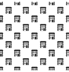 Two-storey residential house pattern simple style vector