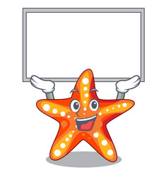 Up board starfish beside the in character beach vector