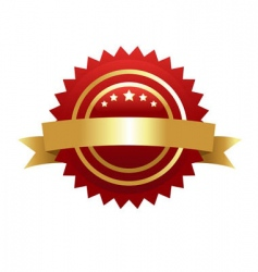 warranty guarantee gold seal vector image