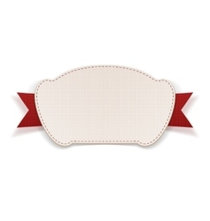 White Tag with red Ribbon vector