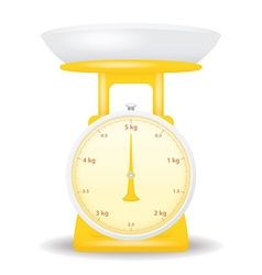 Yellow color weight scale market isolate on white vector