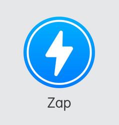 Zap blockchain cryptocurrency zap sign vector