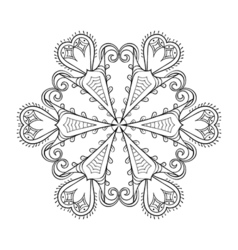 Zentangle elegant snow flake winter for decoration vector