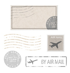 air mail stam vector image vector image