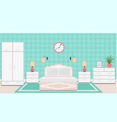 bedroom interior in classic style with furniture vector image vector image