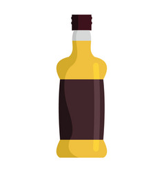 bottle with alcoholic drinks isolated on white vector image vector image