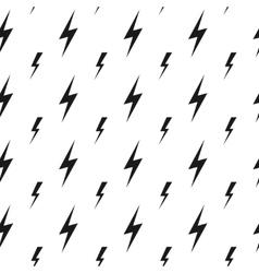 Lightning bolts thunderbolts seamless vector image vector image
