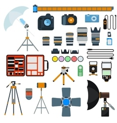 Photo icons collection vector image