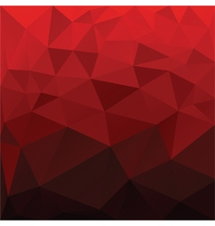 Red abstract low poly background vector