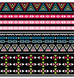 Tribal aztec colorful seamless pattern vector image vector image
