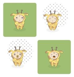 baby giraffe vector image vector image