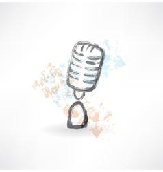 cartoon microphone grunge icon vector image vector image