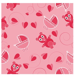 Children pink abstract seamless pattern vector image