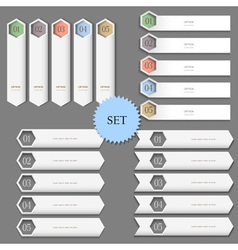 Design templates banners for infographics vector image vector image