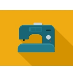 flat Sewing machine vector image
