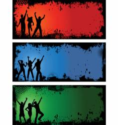 grunge party backgrounds vector image vector image