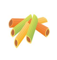 pasta isolated macaroni food vector image