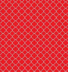 Quatrefoil red vector image vector image
