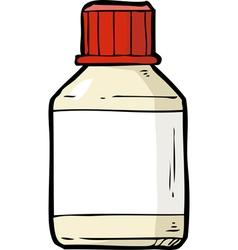 vial of pills vector image