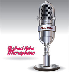 Abstract Retro microphone vector image