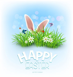 background for easter template rabbit ears vector image