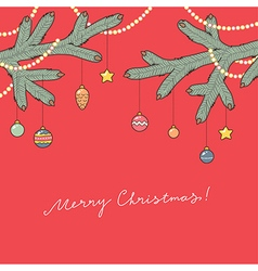 christmas card red vector image