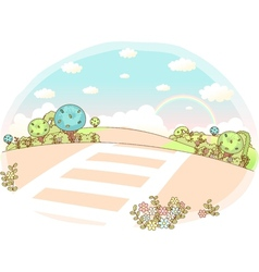 Cute Zebra Crossing vector image vector image