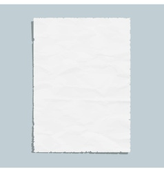 Empty white paper sheet vector image