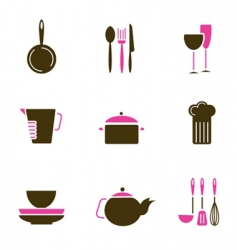 kitchenware objects vector image