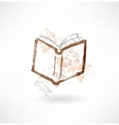 open book grunge icon vector image vector image