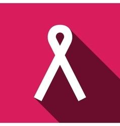 Ribbon breast cancer awareness symbol vector image